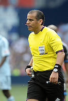 Referee Baldomero Toldeo... Sporting Kansas City defeated San Jose Earthquakes 2-1 at LIVESTRONG Sporting Park, Kansas City, Kansas.