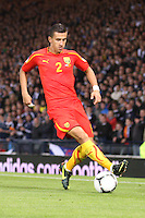Daniel Georgievski in the Scotland v Macedonia FIFA World Cup Qualifying match at Hampden Park, Glasgow on 11.9.12.