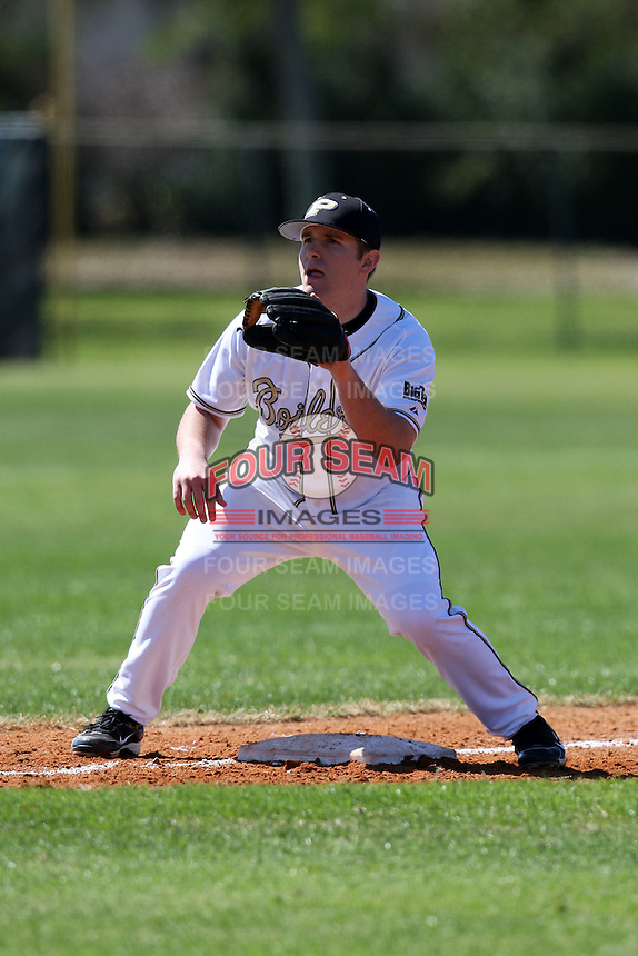February 26, 2010:  Third Baseman Ryan Bridges of the Purdue Boilermakers during the Big East/Big 10 Challenge at Raymond Naimoli Complex in St. Petersburg, FL.  Photo By Mike Janes/Four Seam Images