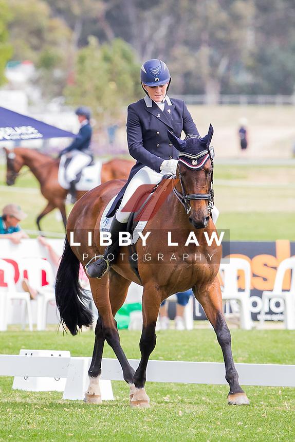 AUS-Kate Rogers (PAPAS DREAM) INTERIM-27TH: CCI2* DRESSAGE: 2014 AUS-Australia's International 3 Day Event (Thursday 13 November) CREDIT: Libby Law COPYRIGHT: LIBBY LAW PHOTOGRAPHY