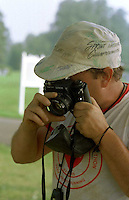 Forrest Hills Cemetery-  A routine archaeological dig has uncovered some prehistoric artifacts at the Lower Moreland cemetery.   Bill Byrd, 43, of Akron, OH. makes a picture of the site he was digging , at the Forrest Hills Cemetery in Lower Moreland, Pa. during a recent archaeological dig.