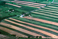 Strip Farm Patterns Aerial, Maryland. Maryland USA.