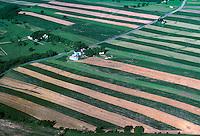 Strip Farm Patterns Aerial, Maryland. Maryland USA.