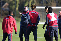 Manager Paul Clement gives instructions to his players during the Swansea City Training at The Fairwood Training Ground, Swansea, Wales, UK. Friday 15 December 2017