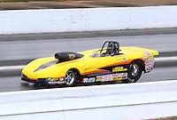 May 19, 2014; Commerce, GA, USA; NHRA super gas driver Allen Kenny during the Southern Nationals at Atlanta Dragway. Mandatory Credit: Mark J. Rebilas-USA TODAY Sports