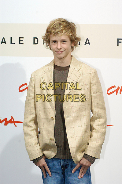 "CAYDEN BOYD.Photocall for film ""Have Dreams, Will Travel"" during the .Rome International Film Festival, Rome, Italy, .October 19th 2007..half length .CAP/CAV.©Luca Cavallari/Capital Pictures."