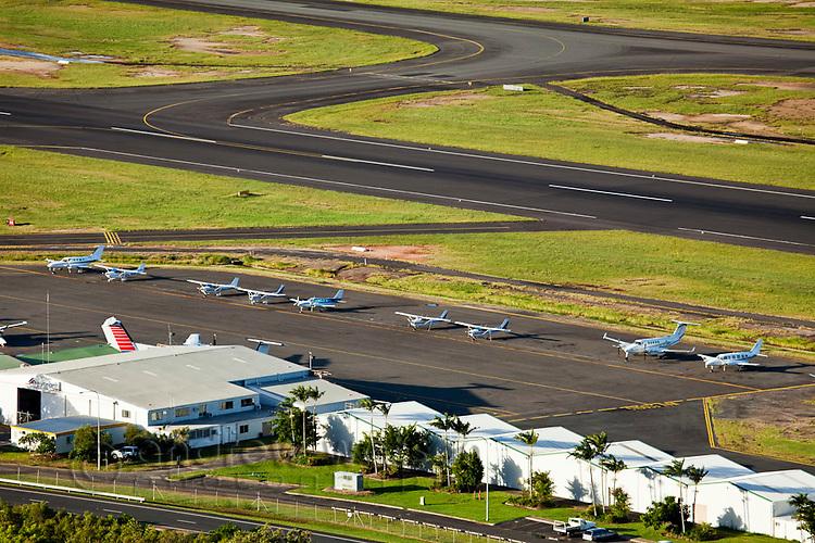 Light aircraft at Cairns airport.  Cairns, Queensland, Australia