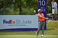 Tyrrell Hatton (ENG) watches his tee shot on 10 during round 4 of the WGC FedEx St. Jude Invitational, TPC Southwind, Memphis, Tennessee, USA. 7/28/2019.<br /> Picture Ken Murray / Golffile.ie<br /> <br /> All photo usage must carry mandatory copyright credit (© Golffile | Ken Murray)