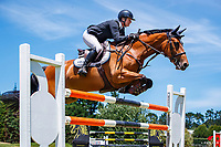 NZL-Catherine Cameron rides Kingslea Couture. Final-3rd. Class 22: Outpost Buildings Horse GP Super Series. 2020 NZL-Collinson Forex Premier Show Jumping At Woodhill Sands. Helensville. Sunday 12 January. Copyright Photo: Libby Law Photography