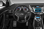Steering wheel view of a 2013 Hyundai Elantra Coupe