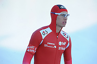 SCHAATSEN: BOEDAPEST: Essent ISU European Championships, 07-01-2012, 500m Men, Bram Smallenbroek AUT, ©foto Martin de Jong