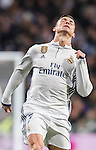 Cristiano Ronaldo of Real Madrid reacts during their Copa del Rey 2016-17 Quarter-final match between Real Madrid and Celta de Vigo at the Santiago Bernabéu Stadium on 18 January 2017 in Madrid, Spain. Photo by Diego Gonzalez Souto / Power Sport Images