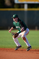 Dartmouth Big Green second baseman Sean Sullivan (4) during a game against the Northeastern Huskies on March 3, 2018 at North Charlotte Regional Park in Port Charlotte, Florida.  Northeastern defeated Dartmouth 10-8.  (Mike Janes/Four Seam Images)