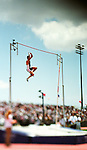 A men's pole vault competitor clears the bar, EXPA Pictures © 2010, PhotoCredit: EXPA/ New Sport/ Kohjiro Kinno *** ATTENTION *** United States of America OUT!