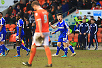 Forest's Chris Burke celebrates scoring his sides fourth goal - Blackpool vs. Nottingham Forest - Skybet Championship - Bloomfield Road - Blackpool - 14/02/2015 Pic Philip Oldham/Sportimage