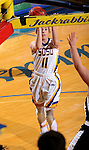 BROOKINGS, SD - JANUARY 7:  Madison Guebert #11 from South Dakota State lays the ball up against the University of Nebraska Omaha during their game Saturday afternoon at Frost Arena in Brookings. (Dave Eggen/Inertia)