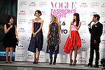 "(L to R) Mitsuko Watanabe, Tao, Yoon, Youn-a, Chris Peppler, September 06, 2014 : Tokyo, Japan - (L to R) Mitsuko Watanabe, Tao, Yoon, Youn-a and Chris Peppler attend the opening ceremony of ""FASHION'S NIGHT OUT 2014"" by VOGUE Japan on September 06, 2014 in Tokyo, Japan. The annual event took place in 20 countries where stores stay open late, offer opportunities for customers to come close to models and celebrities alike. This event started to promote the fashion industry in Japan and is held in Tokyo on September 6 and Osaka on October 18. (Photo by Rodrigo Reyes Marin/AFLO)"