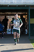 Mark Selwyn leads the Manurewa team out for his 100th game for the club. Counties Manukau Premier Club Rugby game between Pukekohe and Manurewa, played at Colin Lawrie Fields, Pukekohe, on Saturday May 28th, 2016. Pukekohe won the game 62 - 18 after leading 19 - 10 at halftime. Photo by Richard Spranger.