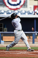 Daytona Tortugas outfielder Phillip Ervin (6) at bat during a game against the Charlotte Stone Crabs on April 14, 2015 at Charlotte Sports Park in Port Charlotte, Florida.  Charlotte defeated Daytona 2-0.  (Mike Janes/Four Seam Images)