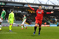 Kristian Dennis of Grimsby Town celebrates scoring the third goal during Yeovil Town vs Grimsby Town, Sky Bet EFL League 2 Football at Huish Park on 9th February 2019