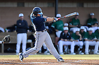 First baseman Calvin Orth (18) of the Citadel bats in a game against the University of South Carolina Upstate Spartans on Tuesday, February, 18, 2014, at Cleveland S. Harley Park in Spartanburg, South Carolina. Upstate won, 6-2. (Tom Priddy/Four Seam Images)