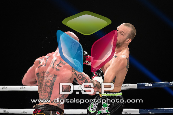 Kev Ward VS Aidan Brooks - 77KG Semi Final A. Photo by: Stephen Smith<br /> <br /> Super Fight Series Championship - Episode 1 Cosmic Collision. Saturday 16th May 2015.<br /> <br /> The SSE Arena, Wembley, London, United Kingdom.