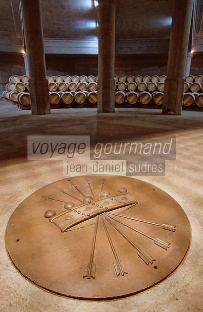Europe/France/Aquitaine/33/Gironde/Pauillac: Chateau Lafite (AOC Pauillac) - Le chai circulaire de l'architecte Ricardo Boffil
