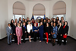 Thirty-two female members of the Nevada Legislature pose for photos before the start of the 80th Legislative Session, in Carson City, Nev., on Monday, Feb. 4, 2019. The group represents the first female majority Legislature in the country. <br /> Photo by Cathleen Allison/Nevada Momentum