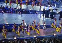 August 12, 2012..Dancers perform during closing ceremony at the Olympic Stadium on the last day of 2012 Olympic Games in London, United Kingdom.