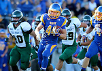 BROOKINGS, SD - SEPTEMBER 6:  Brady Mengarelli #44 from South Dakota State University reruns the opening kickoff against Cal Poly in the first half of their game Saturday evening at Coughlin Alumni Stadium in Brookings.(Photo/Dave Eggen/Inertia)