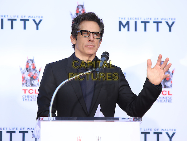03 December 2013 - Hollywood, California - Ben Stiller. Ben Stiller is honored with a hand and footprint ceremony at TCL Chinese Theatre.  <br /> CAP/ADM/RE<br /> &copy;Russ Elliot/AdMedia/Capital Pictures