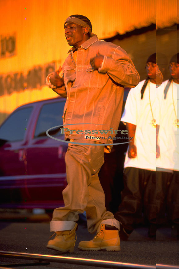 Turk aka Young Turk on the set of his Young & Thuggin video shoot in New Orleans, Louisiana in 2001.  Photo credit: Elgin Edmonds / Presswire News