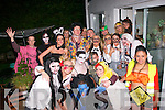 Grave Party.-----------.Tara Dore,Blackrock,Tralee(standing centre)was the host for a great halloween party for her friends at her home last Sunday night and collected donations for the Tralee Hospice.