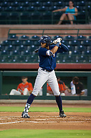 AZL Brewers first baseman Ernesto Wilson Martinez (56) at bat against the AZL Giants on August 15, 2017 at Scottsdale Stadium in Scottsdale, Arizona. AZL Giants defeated the AZL Brewers 4-3. (Zachary Lucy/Four Seam Images)