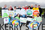Announcing the charities that will benefit from the 2015 Ring of Kerry cycle campaign in Killarney on Saturday morning were front row l-r: Vera O'Leary Kerry Rape and Sexual Abuse Centre, Amber Kavanagh Console, Ellie Costello Friends of St Joesph's Home Killorglin, Madeline Doyle Down Syndrome Kerry. Back row: Tony Curran Valentia Community Health Welfare, Marie O'Leary Rathmore Social Action Group, Cait O'Leary St John of Gods, Liam Twomey St Francis Special School Beaufort, John Costello  Friends of St Joesph's Home Killorglin, Mary Shanahan Kerry Hospice, Cathal Walshe, Sean Scally Enable Ireland