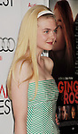 HOLLYWOOD, CA - NOVEMBER 07: Elle Fanning arrives at the 'Ginger And Rosa' special screening during AFI Fest 2012 at Grauman's Chinese Theatre on November 7, 2012 in Hollywood, California.