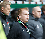 Neil Lennon during the minutes silence