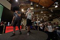 SAO PAULO - 12.10.2018 - GAME-SHOW - Irmãos Piologo participam da Brasil Game Show na tarde desta sexta-feira (12) no Expo Center Norte, região norte de São Paulo.<br /> <br /> (Foto: Fabricio Bomjardim / Brazil Photo Press  )