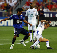 Fredy Montero, joseph Yobo, Philip Neville in the MLS All Stars v Everton 4-3 Everton win at Rio Tinto Stadium in Sandy, Utah on July 29, 2009