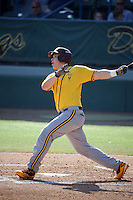 Brian Serven (24) of the Arizona State Sun Devils bats against the Long Beach State Dirtbags at Blair Field on February 27, 2016 in Long Beach, California. Long Beach State defeated Arizona State, 5-2. (Larry Goren/Four Seam Images)