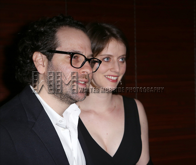 Sam Gold and Amy Herzog  attends the Broadway Opening Night Performance After Party for 'The Realistic Joneses'  at the The Red Eye Grill on April 6, 2014 in New York City.