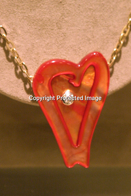 Ariel's Heart of Hope pendant<br />ARIEL'S HEART OF HOPE <br />Neiman Marcus<br />Beverly Hills, CA, USA<br />Wednesday, December 10, 2003   <br />Photo By Celebrityvibe.com/Photovibe.com