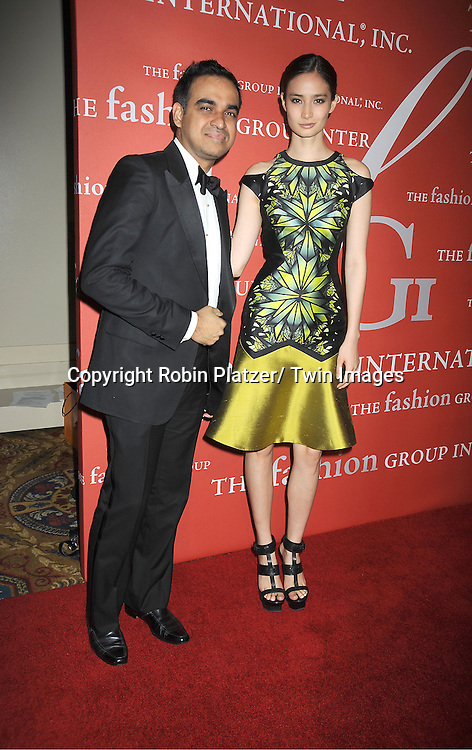 Bibhu Mohapatra and guest attends the Fashion Group International's 29th Annual  Night of Stars Gala on October 25, 2012 at Cipriani Wall Street in New York City.