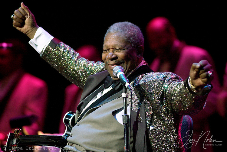 BB King made the crowd cheer more than once during his concert at the Tampa Bay Performing Arts Center.