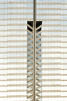 Detail of skyscraper, Renaissance Harbour View Hotel, Hong Kong SAR, China, Asia