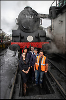 BNPS.co.uk (01202)558833<br /> Pic: PhilYeomans/BNPS<br /> <br /> Young blood - The Swanage Railway in Dorset is desperate to recruit young people into various heritage railway profession's.<br /> <br /> Growth Industry - Britain's enduring love affair with steam trains has led to a critical shortage of drivers, 56 years after the infamous Beeching Axe was supposed to have fallen.<br /> <br /> More steam train's are running today than at anytime since Dr Beechings drastic cut in 1963 - with over 150 steam heritage railways and museums attracting 13 million visitors a year.<br /> <br /> One of the most popular heritage railways in the country has put out an SOS for steam drivers - as so many of its stalwarts are retiring.<br /> <br /> Swanage Railway in Dorset has 42 steam drivers on their books, but the majority are in their 60s or older and likely to step down in the coming years.<br /> <br /> They need to train up to 40 drivers over the next five years to replace them and meet their expanding service, which attracts over 200,000 visitors each year.<br /> <br /> To fill the void, a group of enthuisastic young volunteers are being taught the skill, a process which can take up to a decade.<br /> <br /> The Heritage Railway Association, which oversees them, says some of their railways have a 'more pressing need for new blood'.