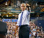 President Obama arrives at rally for Hillary Clinton and democrats at Florida International University Arena on Thursday, November 3, 2016.