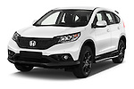 2014 Honda CR-V Lifestyle 5 Door Suv Angular Front stock photos of front three quarter view