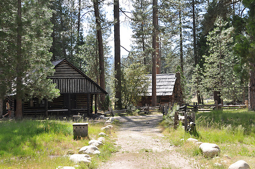 Yosemite Valley is home to most of the park's famous waterfalls; El Capitan Meadow, which provides a view straight up El Capitan and a great view of Cathedral Rocks; and the Wawona Covered Bridge, built in 1868 by Yosemite's first guardian, Galen Clark,to connect human developments on both sides of the South Fork Merced River