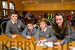Dromclough NS Listowel, Eoin McElligott, Darragh Mulvihill, Ronan Leahy and Aoibhe Linnane  at the Credit Union Chapter 23 Primary school's Quiz in the Ballyroe Heights Hotel on Sunday